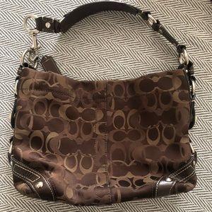 Coach signature shoulder bag